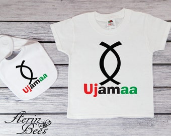 Ujamaa Principle - Kwanzaa Bodysuit - Toddler Tee Shirt - Kwanzaa Toddler T Shirt - Youth Tee Kwanzaa - KW1513