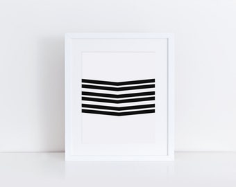 Chevron Print, Chevron Art, Black and White Chevron, Geometric Triangle, Geometric Print, Geometric Art, Geometric Wall Art, Office Decor