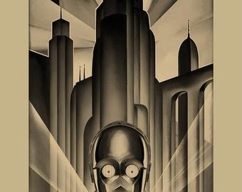 Droidopolis - Star Wars Metropolis 11x17 print