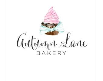Premade Logo Design | Watercolor Logo | Photography Logo | Watermark | Bakery Logo | Branding Package | Business Branding | Cupcake Logo