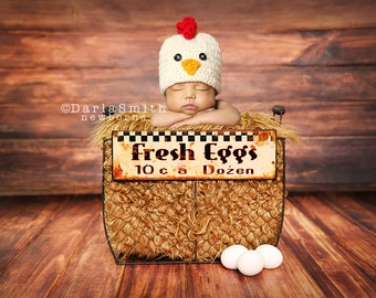 Digital Photography Backdrop Instant Download Newborn Baby Photography Vintage Chicken Farm Egg Scene Barnwood Prop