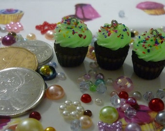 Glow in the Dark Cupcake Earrings