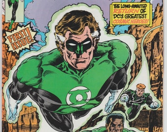 1990 Green Lantern #1 Hal Jordan DC Comics John Stewart Guy Gardner Batman Justice League of America Cameos