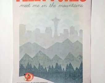 Fleet Foxes Meet Me in the Mountains Poster | Print