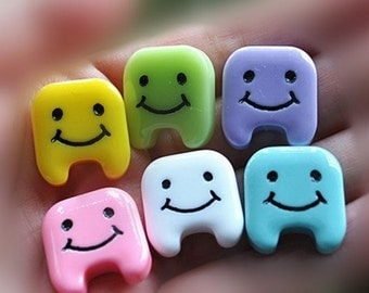 4 Teeth mixed colour tooth cabochon dentist tooth fairy dental mouth decoden cabochon kawaii 4 pieces diy cell phone jewellery and more
