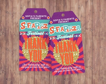 "Favor tags ""ROCKSTAR"" (Printable File Only) , baby shower, party decorations, party supplies, rockstar party, rockstar sign, Lollapalooza"