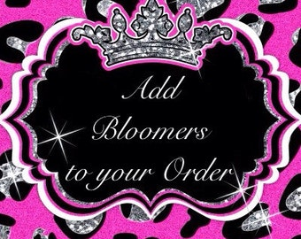 Add Bloomers To your Order
