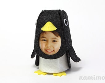 DIY Kit / Photo Flame Animal / FELT KIGURUMMY - Penguin (Black/Pink/Sky blue)