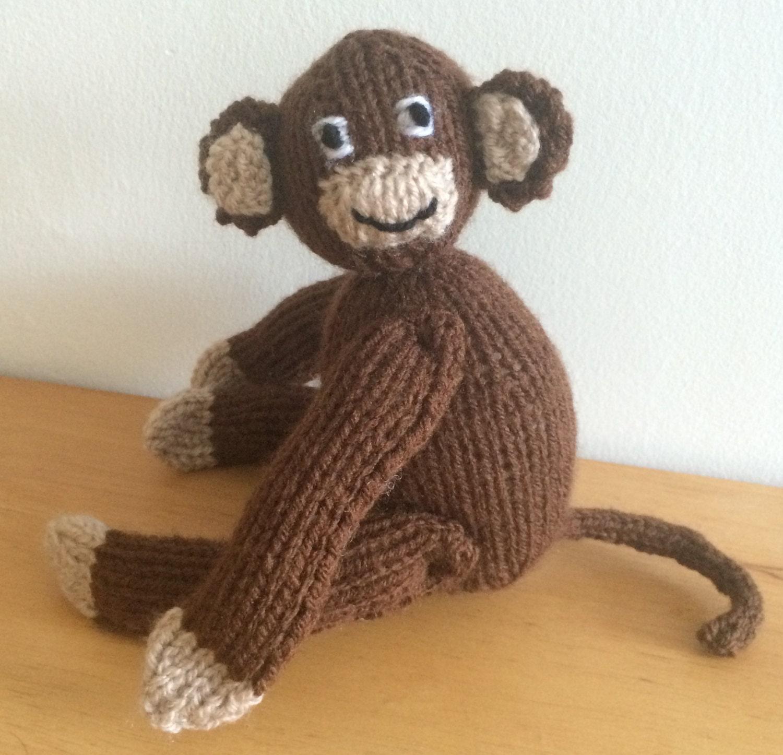 Monkey Amigurumi Knitting Pattern : Monkey knitting pattern soft toy pattern plushie pdf amigurumi