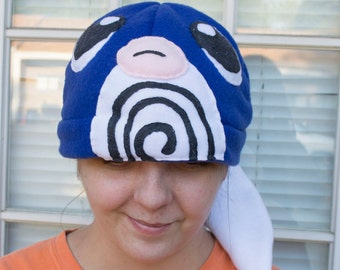Poliwag Fleece Hat Beanie Kawaii Handmade Cute Winter Cap Anime Cartoon Character Water Type Mystic Instinct Valor Frog Poliwrath Poliwhirl