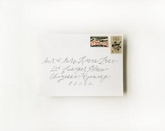 Calligraphy Wedding Invitation Envelope Addressing