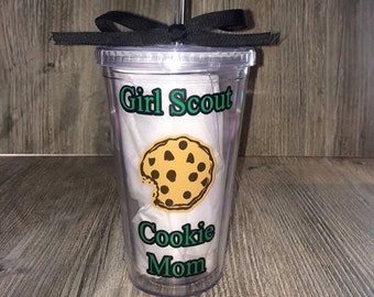 Girl Scout Tumbler, Girl Scout Cookie Mom Tumbler,