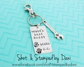 World's Best Daddy,Personalized Keychain,World's Best Grandpa,World's Best Uncle,World's Best Mommy,Christmas Gift,Child Hand print Keychain