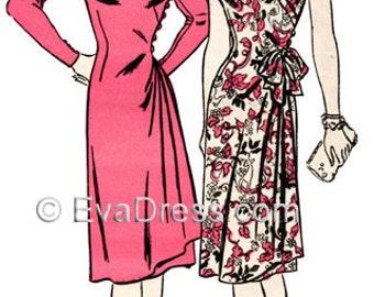 1943 Drop-Sleeve Wrap Dress-A Real Favorite!