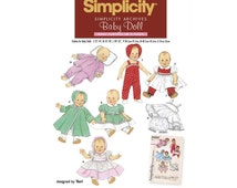 """Vintage 1950's Style Doll Clothes Sewing Pattern Fits Dolls 12"""" - 22"""" Uncut Simplicity 4707"""