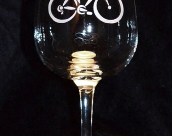 Bicycle Wine Glasses (Set of 2)
