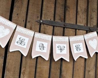 Love banner Wedding banner Love Wedding bunting Valentines banner Love garlands Shabby wedding decor Wedding garland Wedding decorations