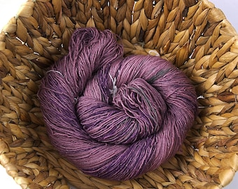 Agate - Handdyed glitter merino superwash sock yarn
