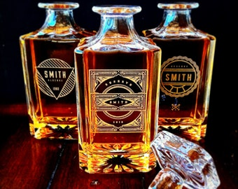 Groomsmen Gift – Personalized Whiskey Decanter Set – A Personalized Gift, great for Groomsmen Gifts, Best Man Gift or Wedding Gift
