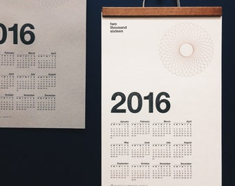 SALE 75% off – 2016 Letterpress + Foil Wall Calendar