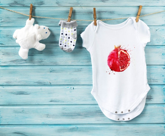 Pomegranate Baby Bodysuit Baby Shower Gift Cute Baby Clothes