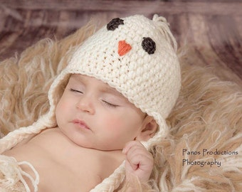 Baby Chick Hat, Toddler Hat, Newborn Photo Prop, Baby Bird Hat, Baby Boy Hat, Baby Girl Hat, Baby Shower Gift, Crochet Baby Hat, Newborn Hat