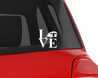 "Vinyl Decal, RV, Teardrop Camper Silhouette ""love"" Vinyl Decal Can Be Personalized!  Rv, Travel Trailer, Caravan Travel"