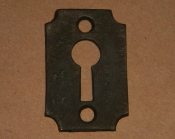 Rough Cast Iron Keyhole Cover - Antique Victorian Escutcheon - 100+ Years Old