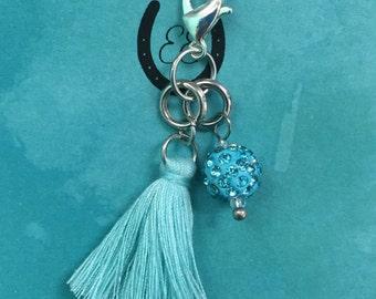Blue Fringe Charm
