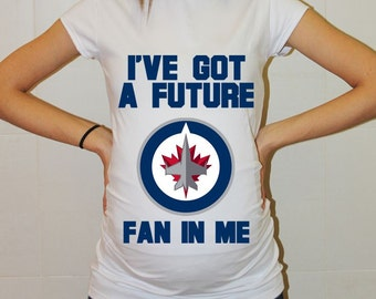 Winnipeg Jets Baby Winnipeg Jets Baby Boy Baby Girl Maternity Shirt Maternity Clothing Pregnancy New Baby Shower