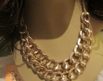 Double Gold  Tone Chains-Clean and simple