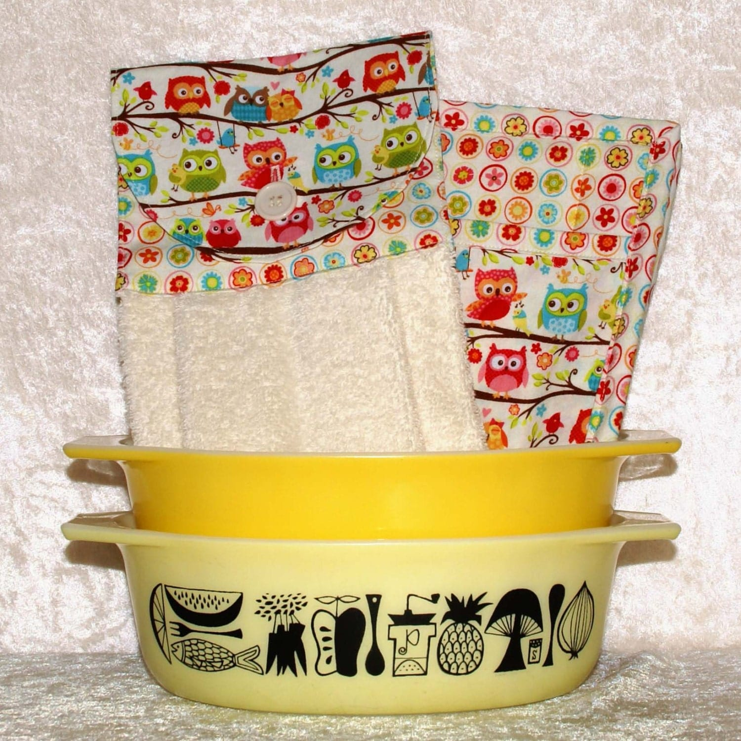 owl kitchen decor 1 hanging hand towel 2 quilted pot
