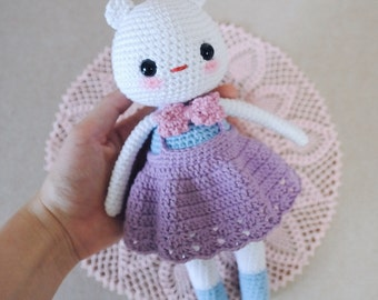 Sugar Cream Bear - amigurumi, crochet doll, stuffed bear