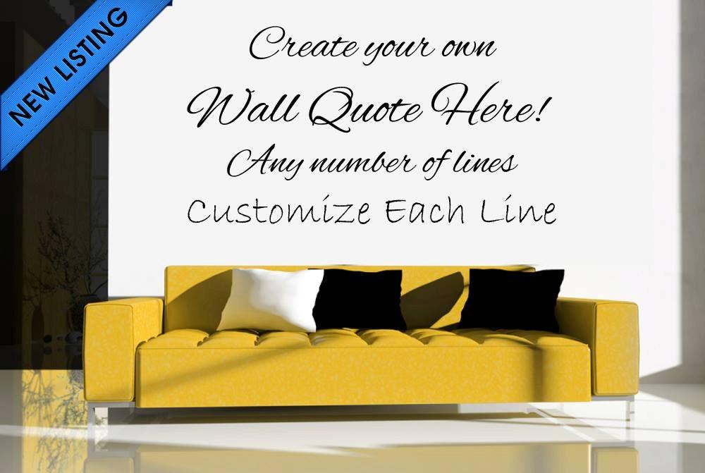 custom wall decal custom wall stickers custom wall quotes like this item