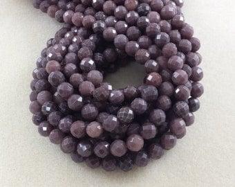 """Aventurine Beads, 8mm Beads, Purple Aventurine, Faceted Beads, Purple Beads, Purple Gemstone, Faceted Gemstone, 6mm Beads, Dusty Purple, 16"""""""