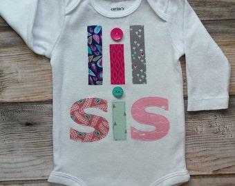 Lil Sis Bodysuit-Little Sister-Baby Sister Shirt-New Baby Girl-Little Sister Onesie-Lil Sis Onesie-Lil Sis Shirt-Little Sister Bodysuit