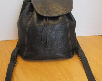 VTG Coach Black Pebbled Leather Backpack Rucksack Bag Purse Classic 4911 Made in Italy in the 1990s