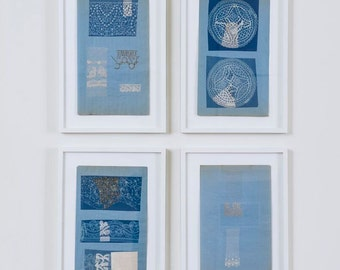 1940s Cyanotypes with Lace