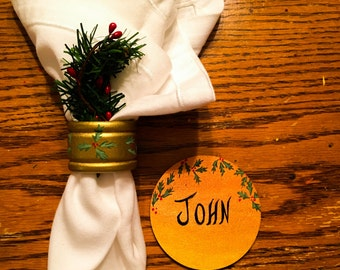 Name Place and Napkin Ring