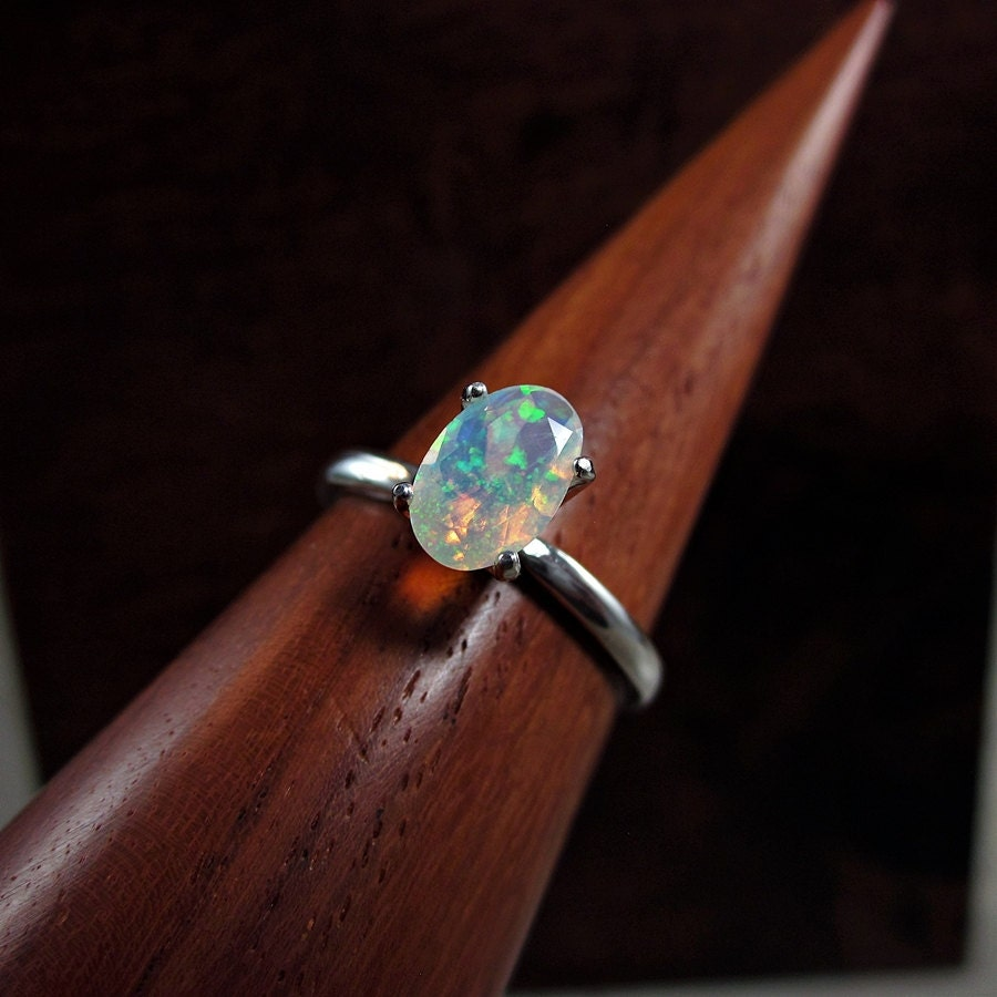 fire opal ring rainbow opal ring fire opal engagement ring. Black Bedroom Furniture Sets. Home Design Ideas