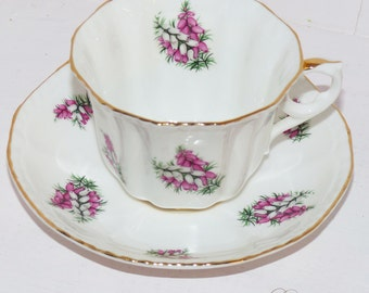 Royal Grafton Teacup and Saucer Heather Pattern - 430