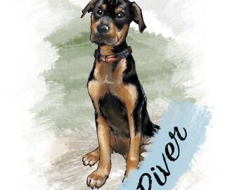 Custom FULL Color PET Portrait / Illustration