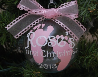 Baby's First Christmas Ornament/Personalized Baby Gift/Personalized Ornament