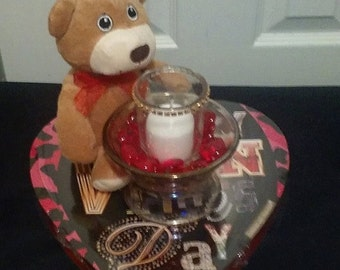 Candy Bear and Votive Gift Set