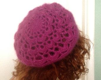 crochet hat (barret) winter M-L