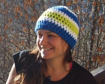 Hat wool lined - woman / ado - striped