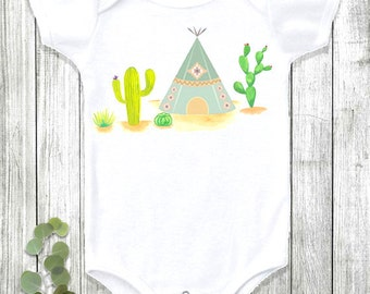 Baby Onesie®, Boho Baby Clothes, Bohemian Baby, Baby Girl Clothes, Baby Boy Clothes, Cute Baby Clothes, Cactus, Teepee, Baby Shower Gift