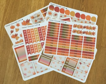 Autumn Leaves Theme ECLP & Happy Planner Weekly Planner Stickers