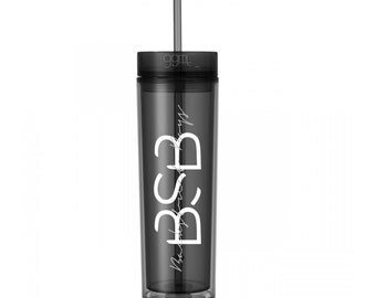 BSB - Backstreet Boys - 16oz - Skinny Tumbler With Straw and Lid- Hot & Cold - God Give Me Truth