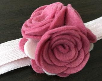 SALE: Felt Roses Headband